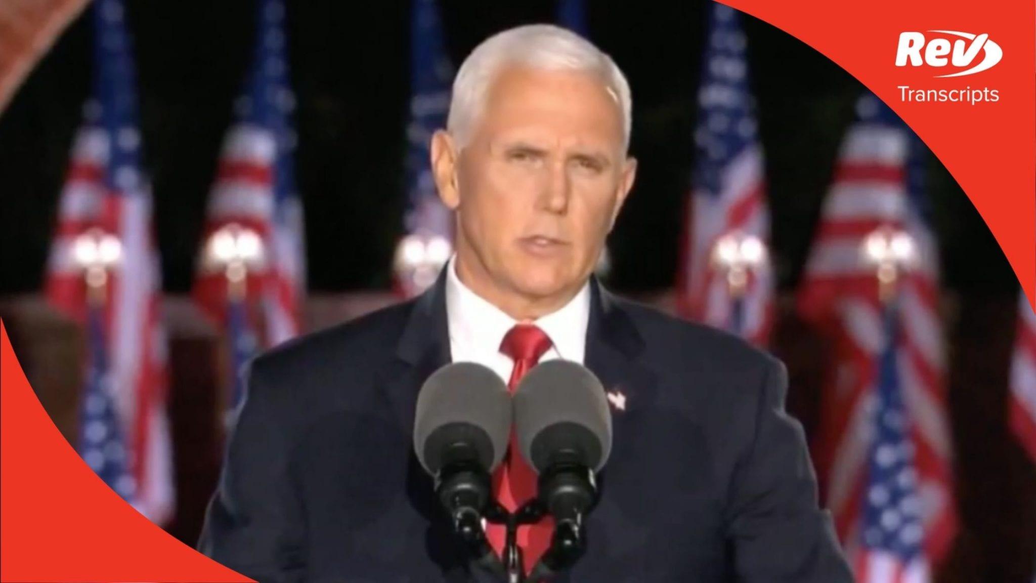Mike Pence 2020 RNC Speech Transcript
