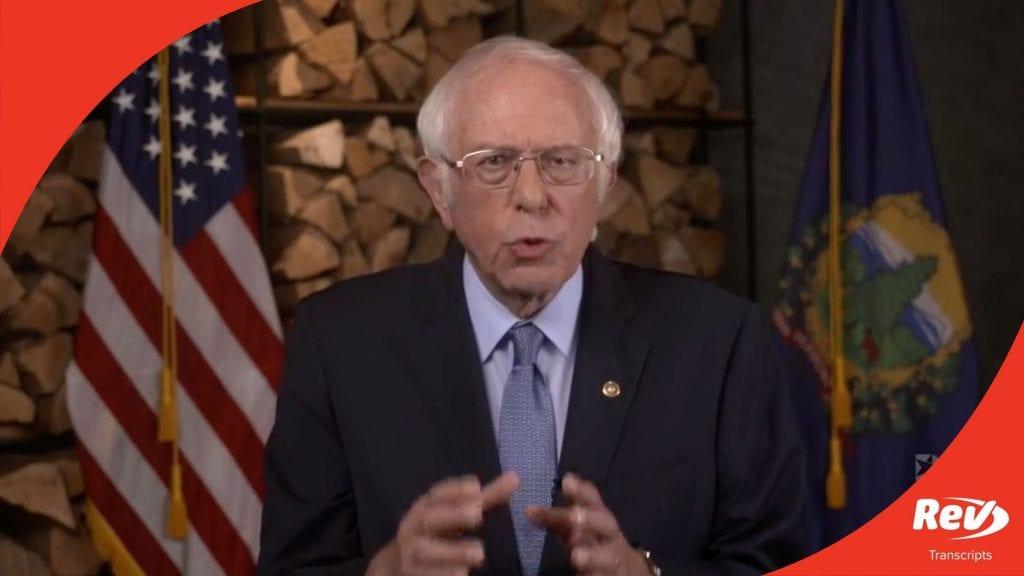 Bernie Sanders DNC Speech Transcript