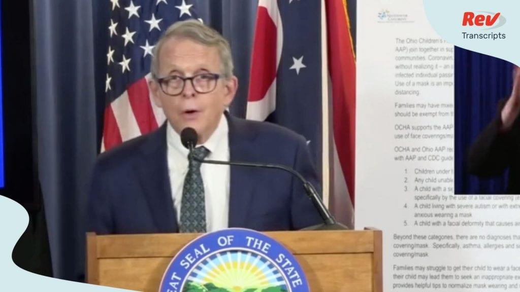 Mike DeWine Ohio Press Conference Transcript August 4