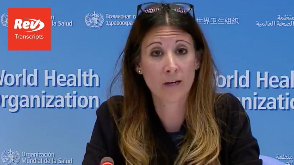 World Health Organization (WHO) Coronavirus Press Briefing Transcript August 27