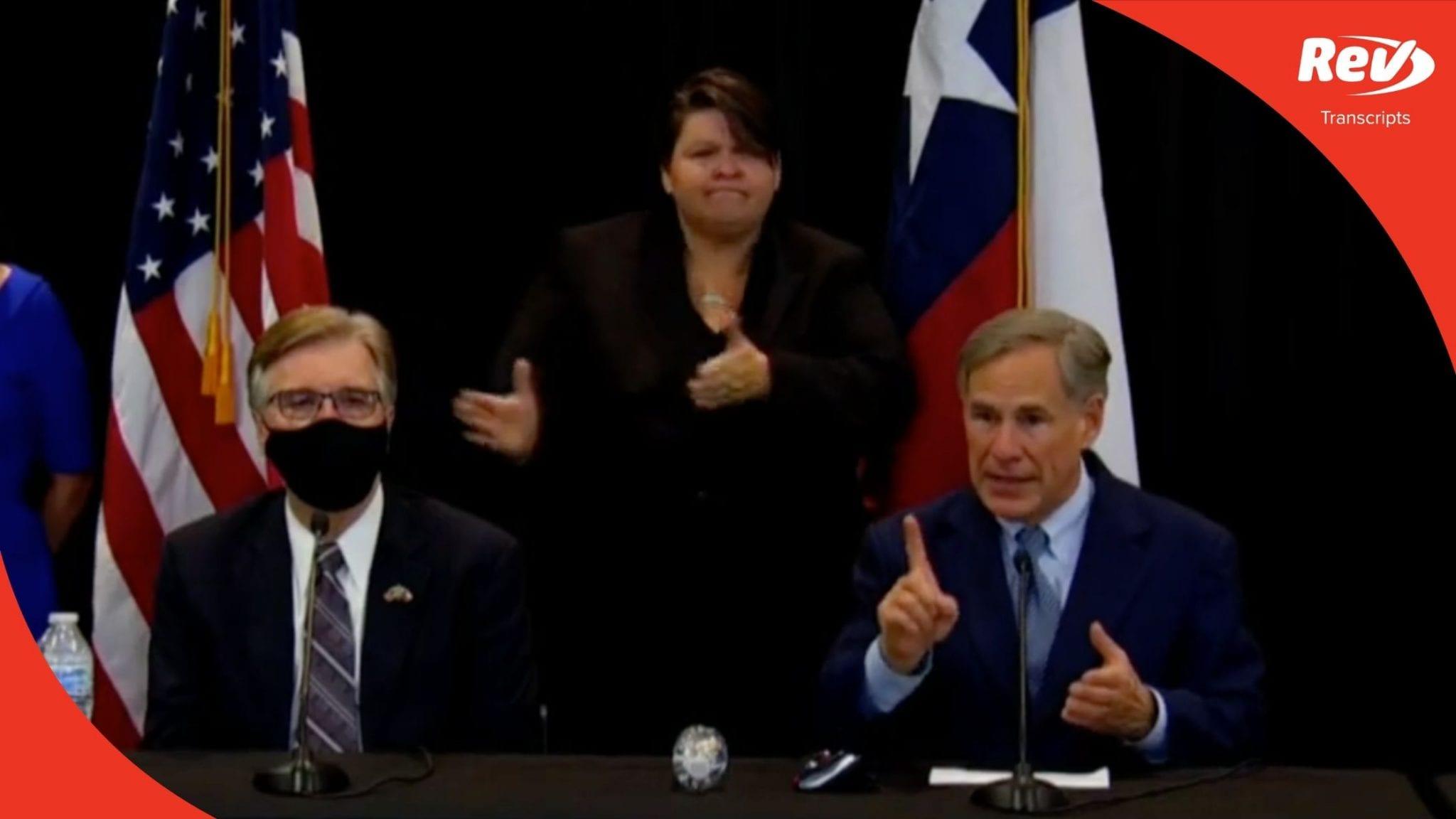 Texas Gov. Greg Abbott Press Conference Transcript August 18: Police Funding