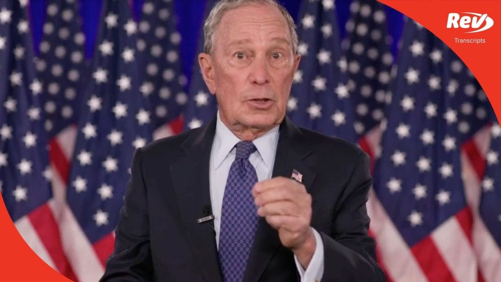 Mike Bloomberg 2020 DNC Speech Transcript