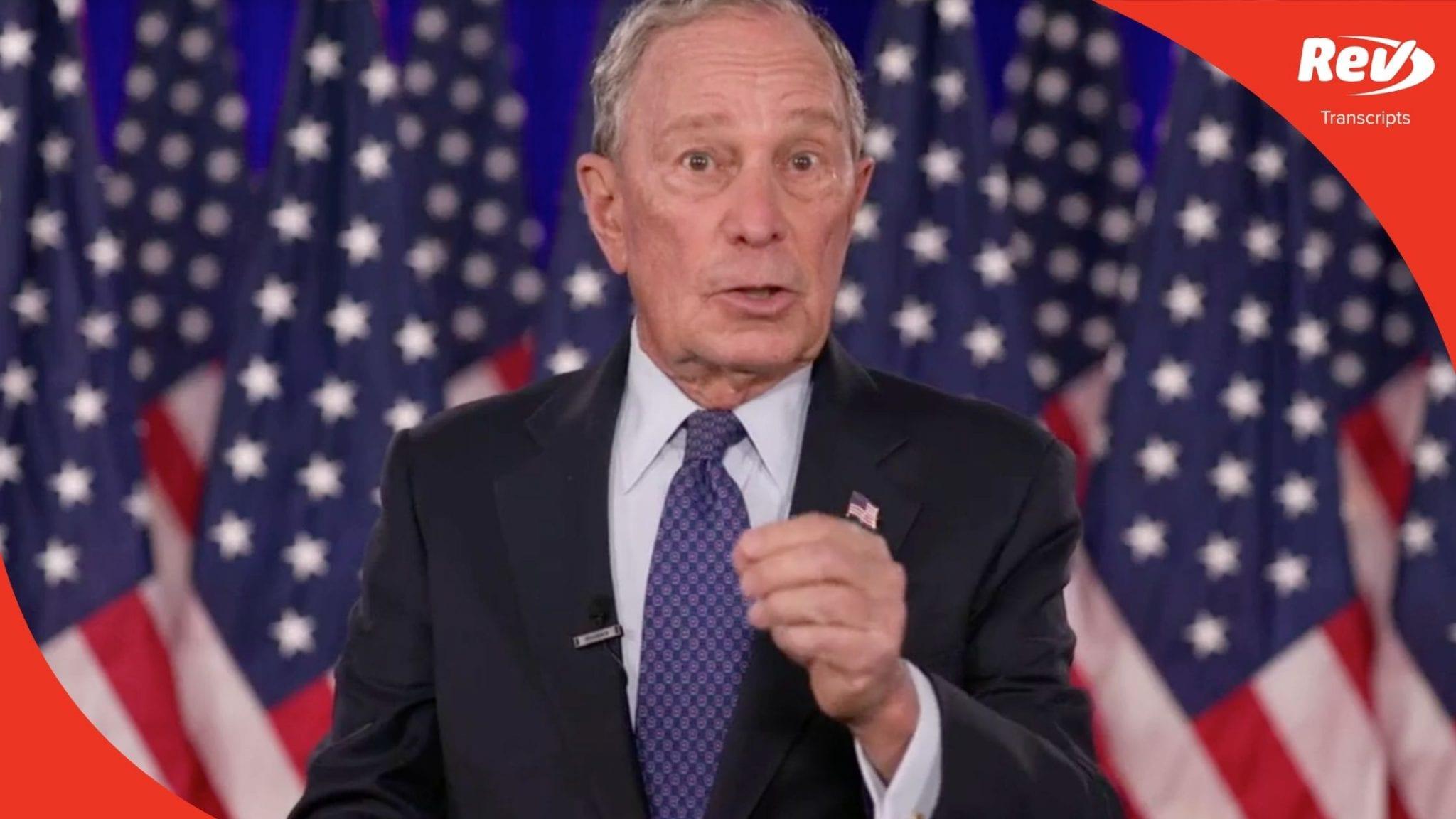 Mike Bloomberg 2020 DNC Speech Transcript
