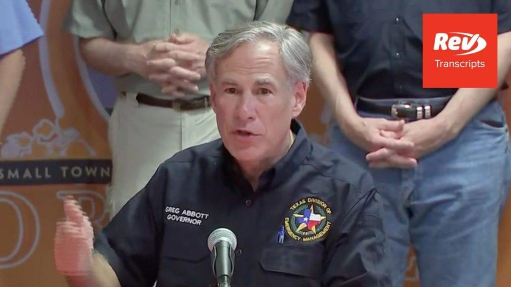 Greg Abbott Press Conference Transcript August 27: Hurricane Update