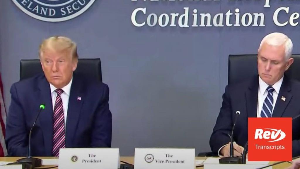 President Trump & FEMA Briefing Transcript August 27: Hurricane Laura