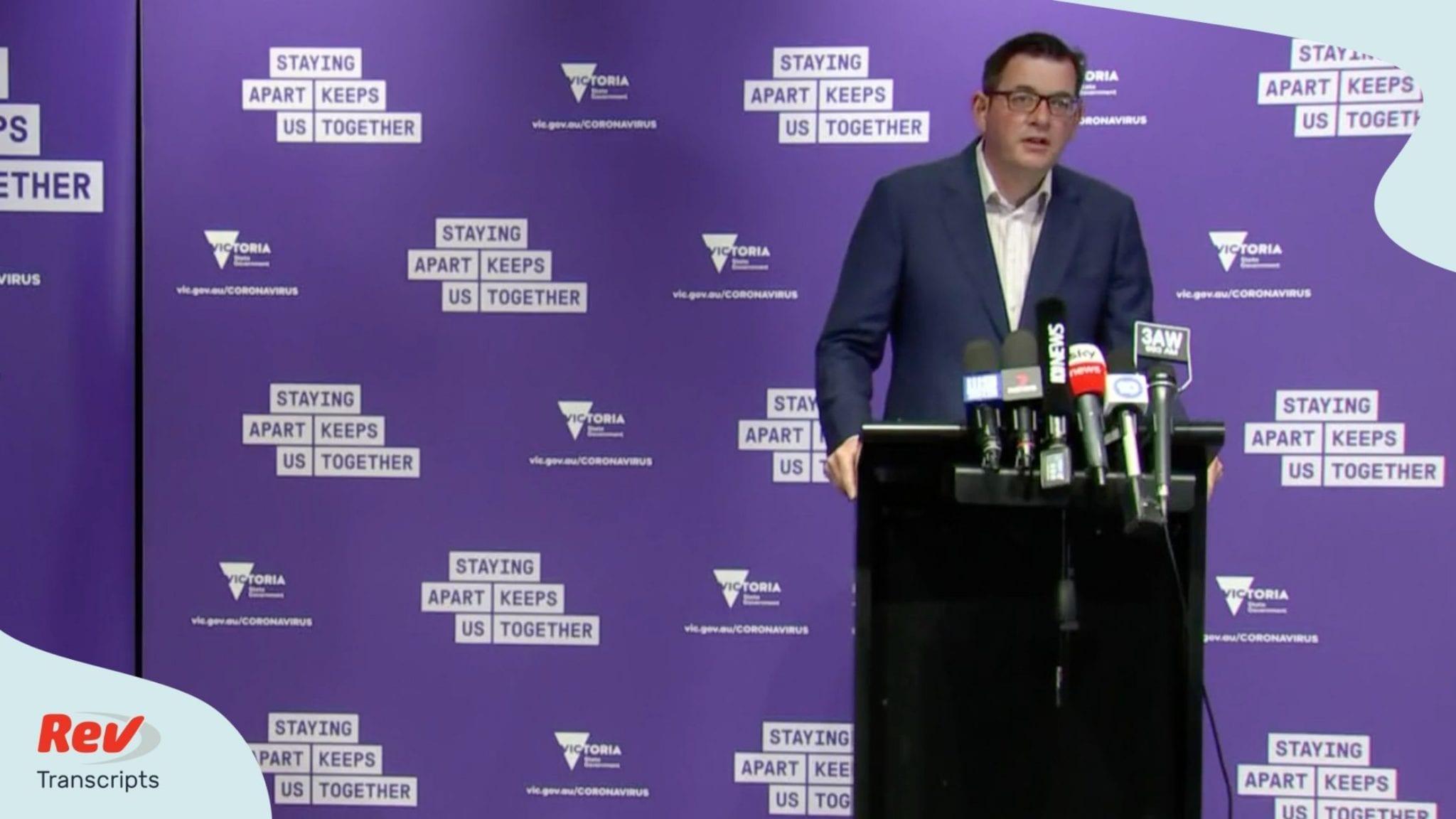 Victoria Premier Dan Andrews Press Conference Transcript August 5 Rev