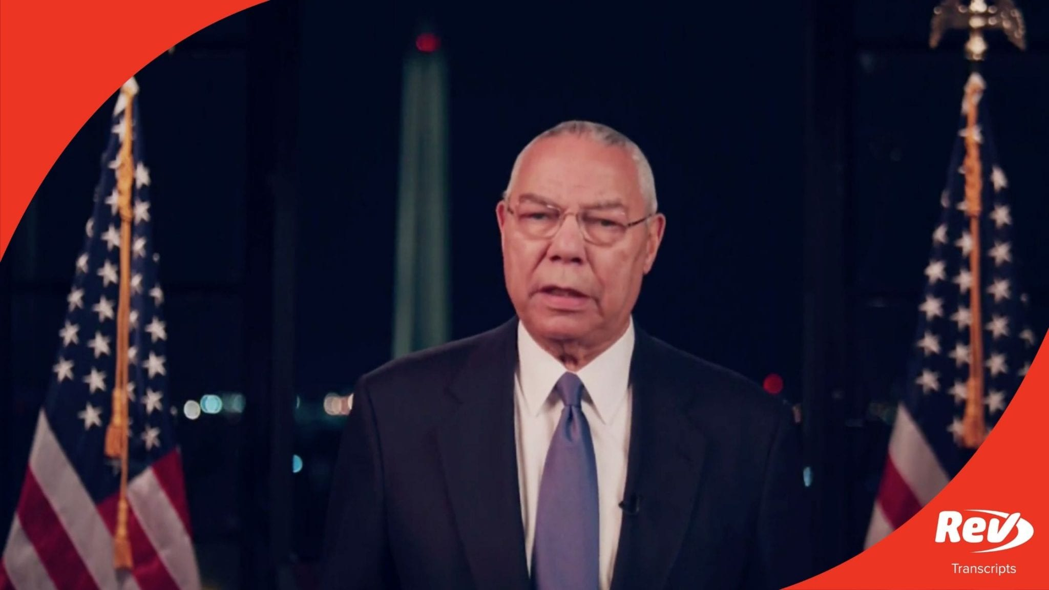 Colin Powell 2020 DNC Speech Transcript