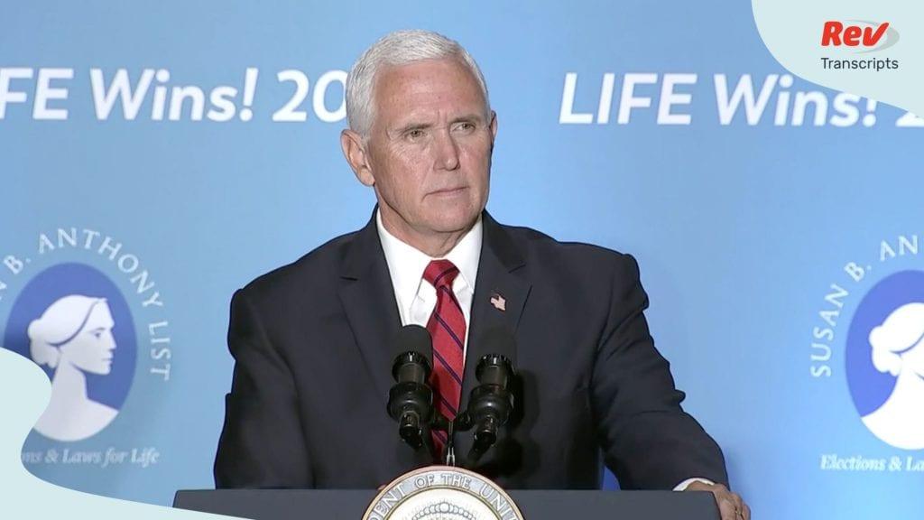 VP Mike Pence Speech Transcript Religious Freedom August 5