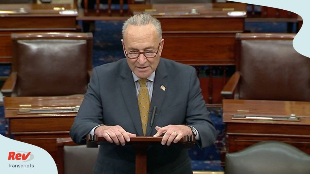 Senator Chuck Schumer Senate Floor Speech Transcript August 10: Coronavirus Relief