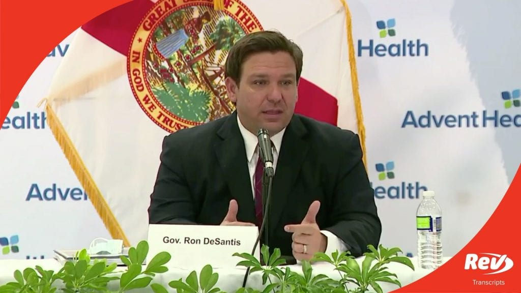 Florida Governor Ron DeSantis Press Conference Transcript August 19