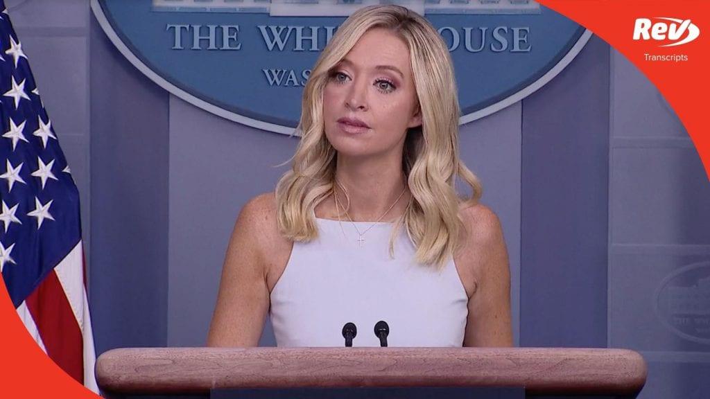 Press Secretary Kayleigh McEnany White House Press Conference Transcript August 19