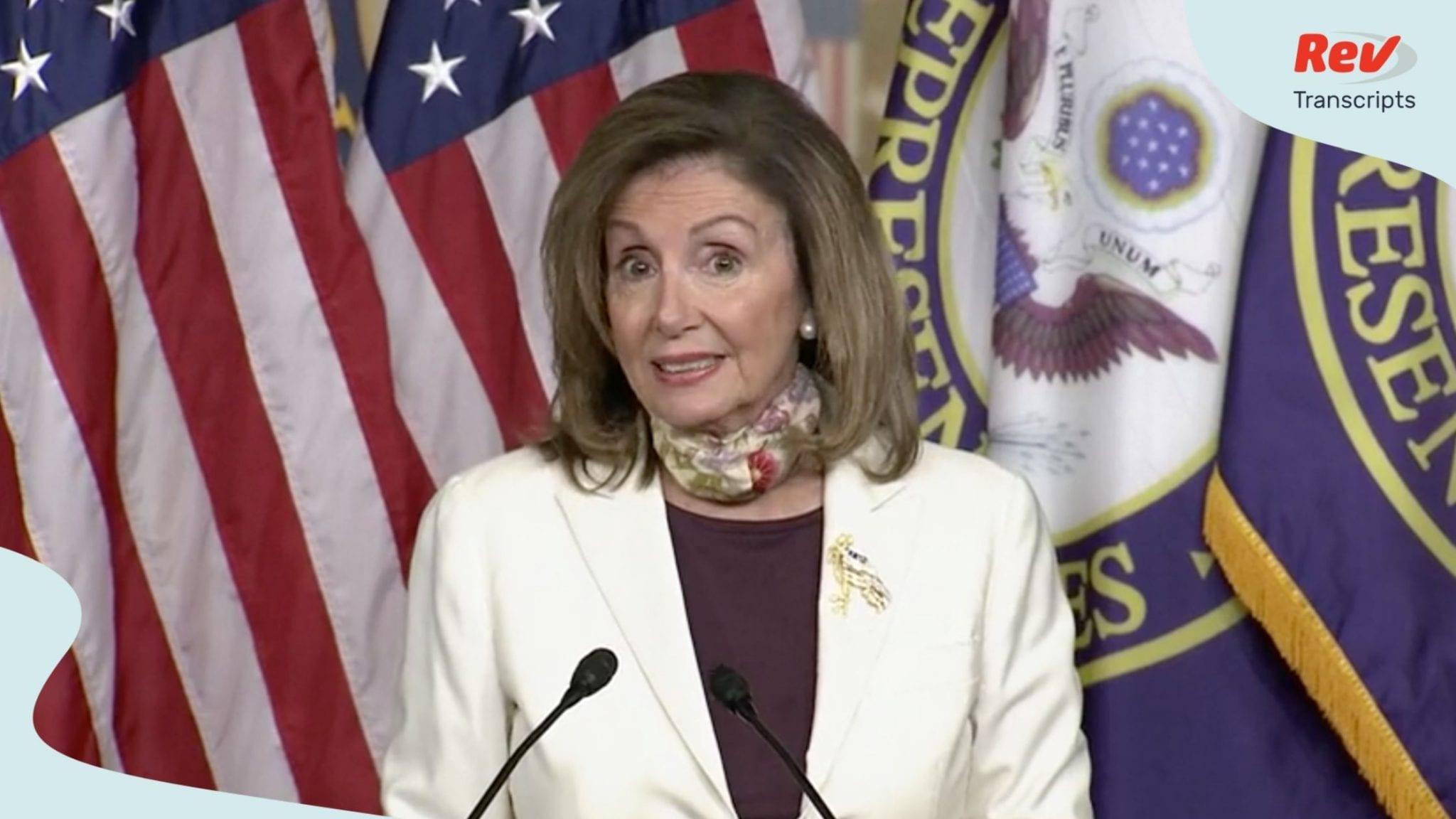 Speaker Nancy Pelosi & Senator Chuck Schumer Press Conference Transcript August 6