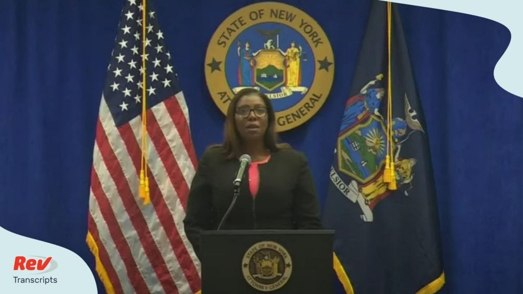 NY AG Letitia James Sues NRA Press Conference August 6