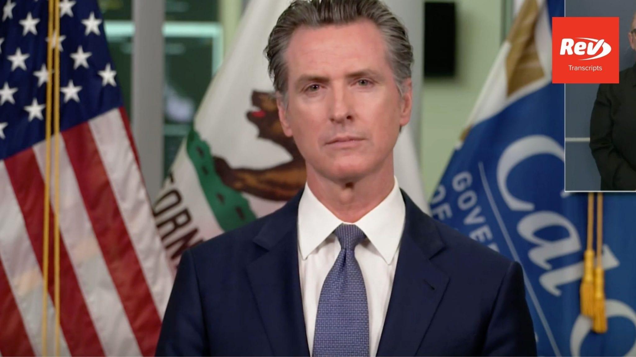 California Governor Gavin Newsom August 19 Press Conference Transcript