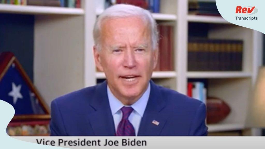 Joe Biden Interview Transcript August 6: Talks Mental Fitness, Healthcare