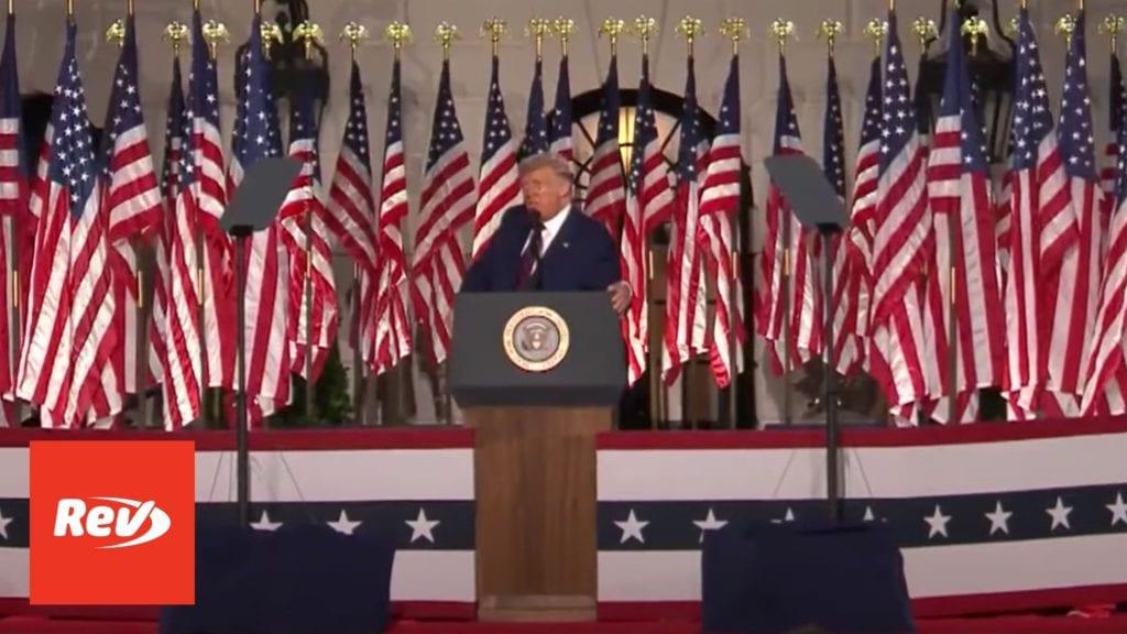 2020 Republican National Convention (RNC) Night 4 Transcript
