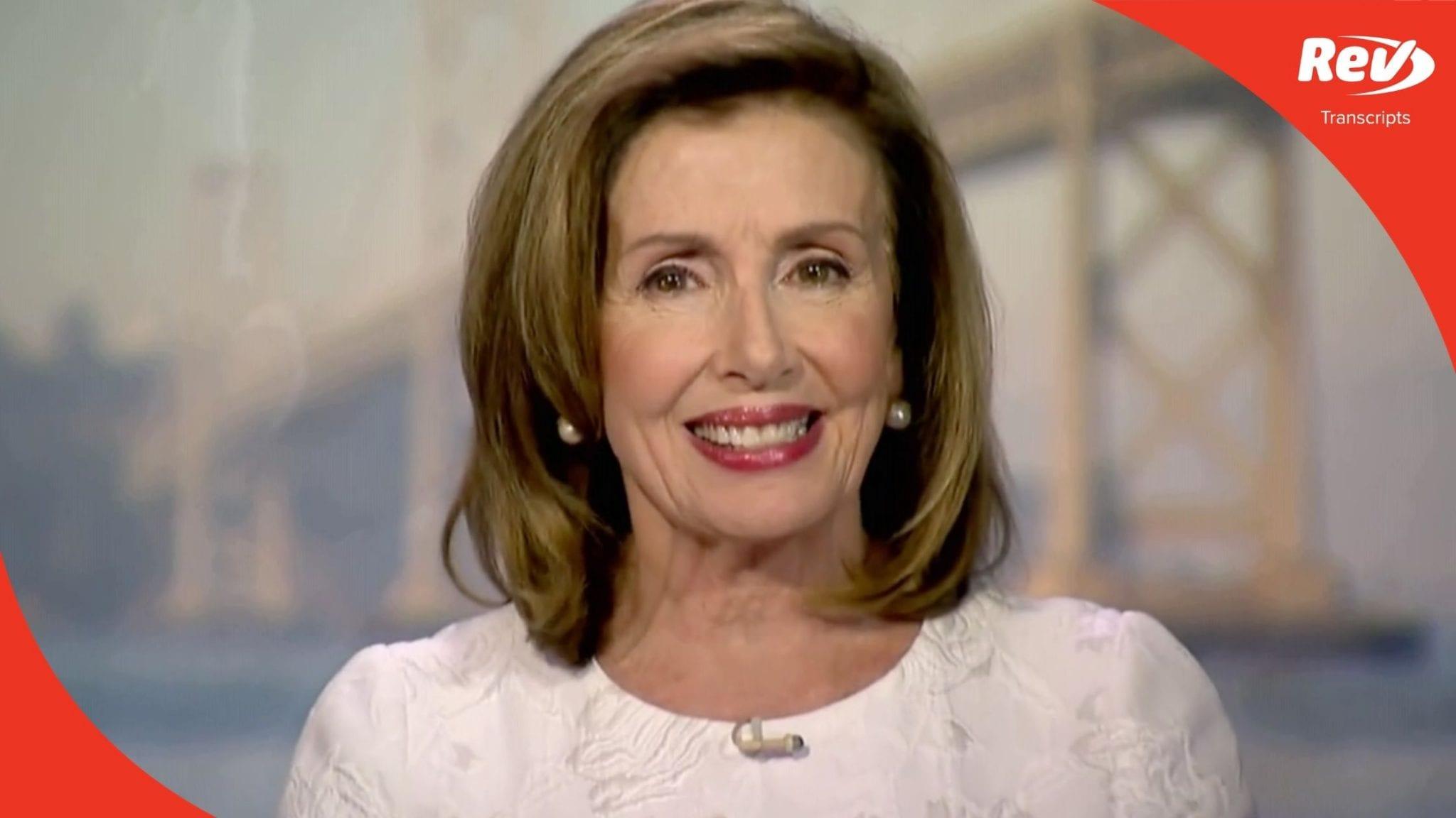 Nancy Pelosi 2020 DNC Speech Transcript