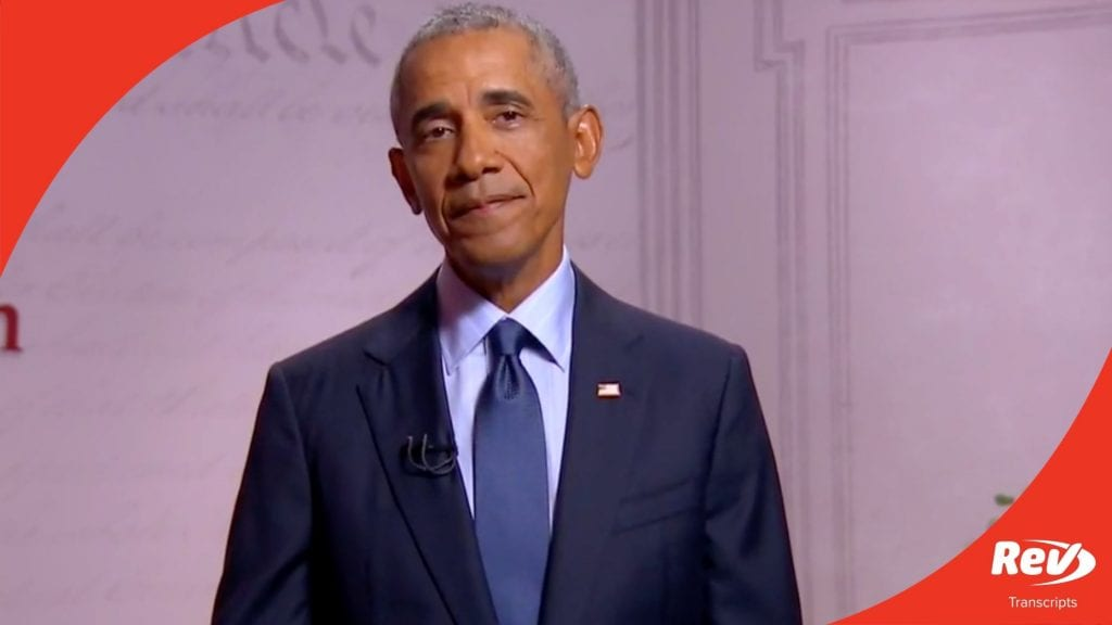 Barack Obama 2020 DNC Speech Transcript