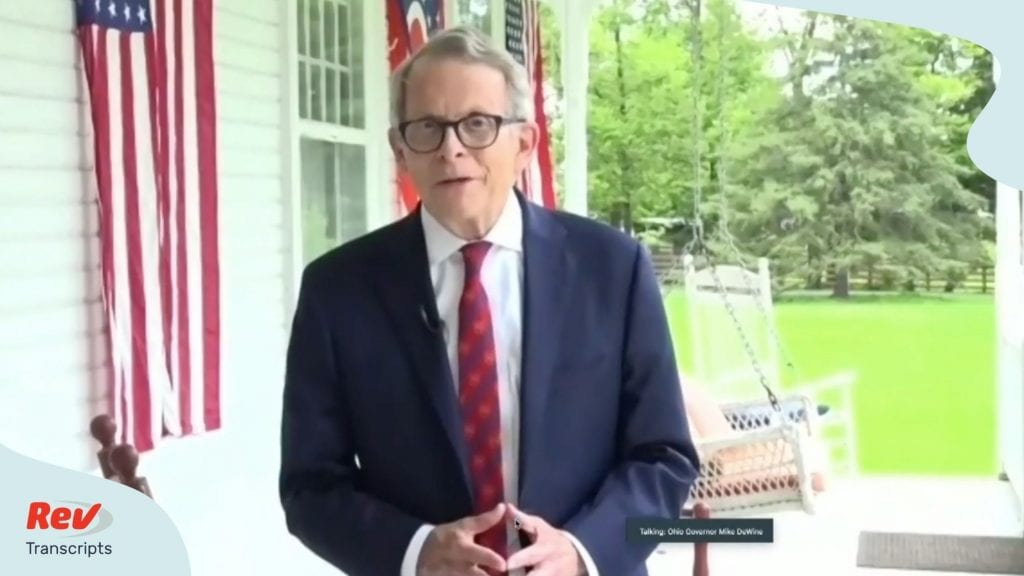Mike DeWine Ohio Press Conference Transcript August 6: Tested Positive for COVID-19