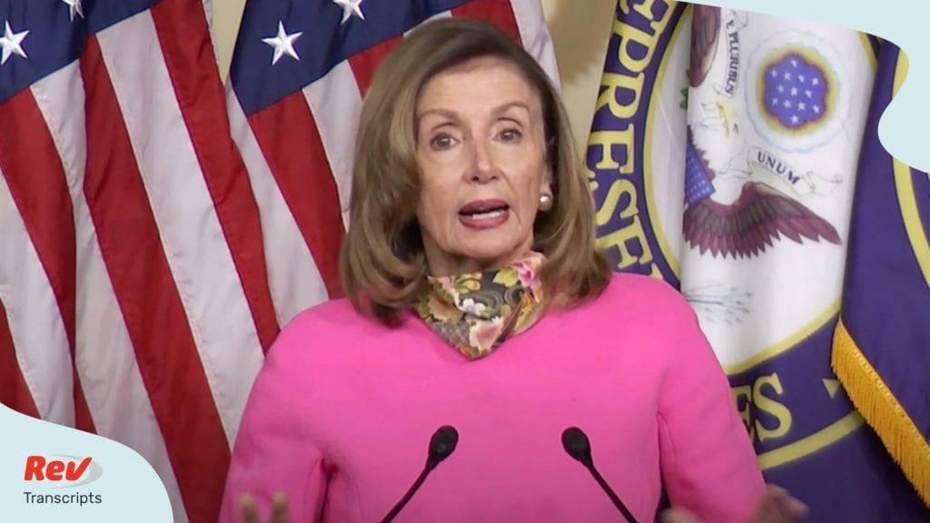 Speaker Nancy Pelosi & Senator Chuck Schumer Press Conference Transcript August 7