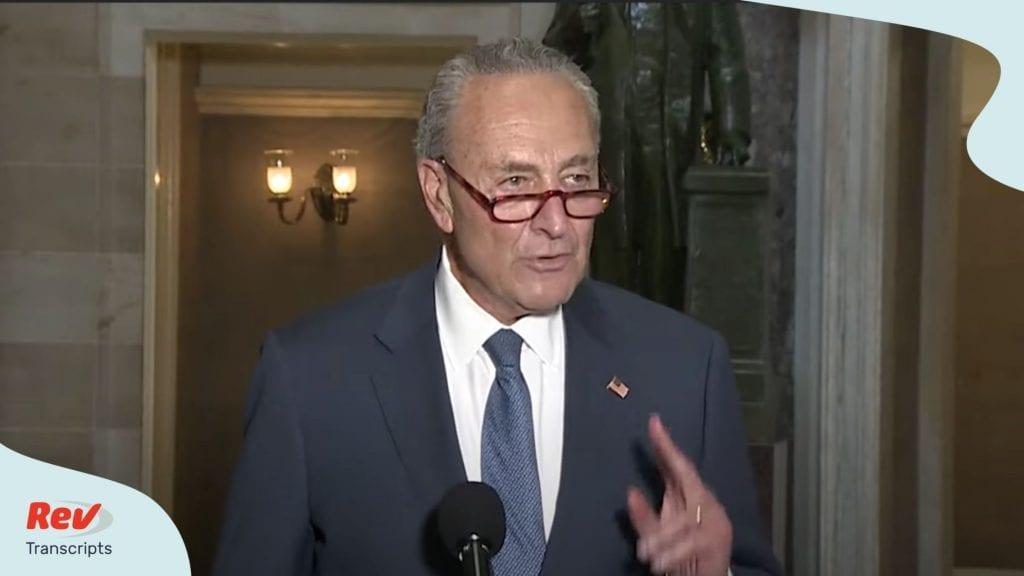 Speaker Nancy Pelosi and Senator Chuck Schumer Stimulus Update Transcript August 7