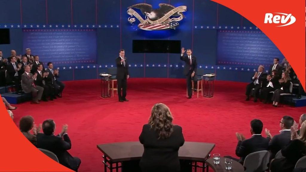 Barack Obama Mitt Romneey second debate transcript