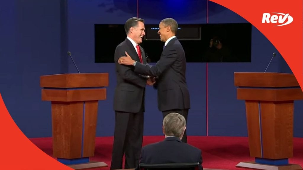 Barack Obama Mitt Romney First Debate Transcript