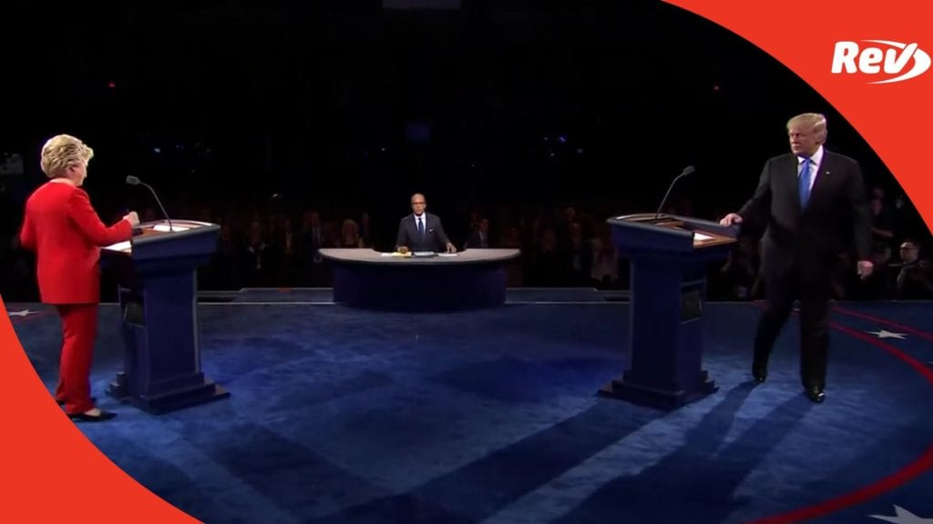 Donald Trump Hillary Clinton First Presidential Debate