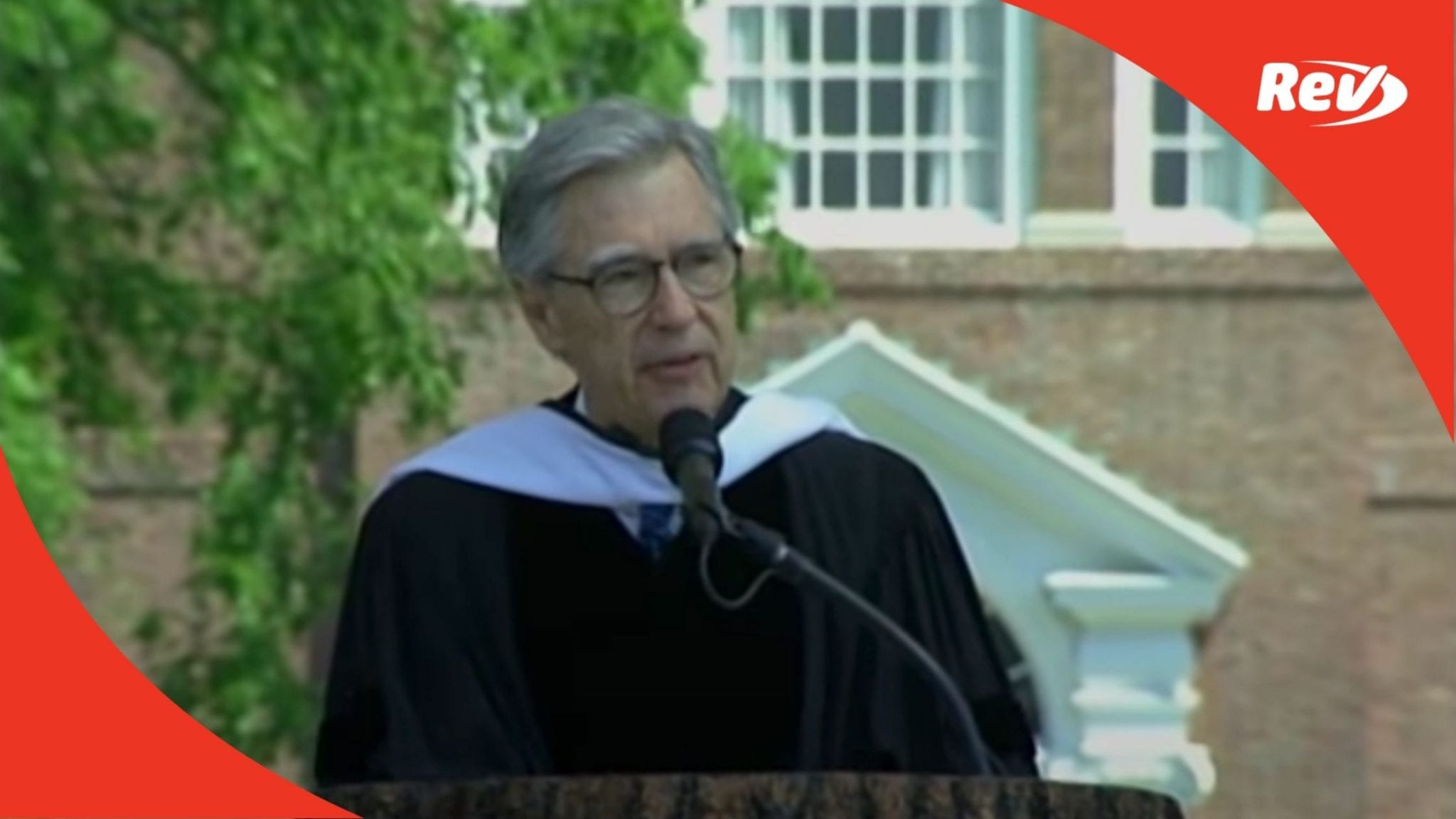 Fred Rogers Mr Rogers Commencement Speech 2002 Dartmouth College