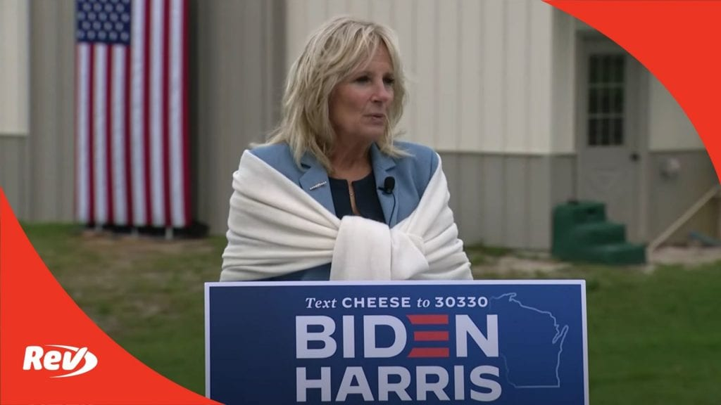 Jill Biden Campaign Speech in Wisconsin