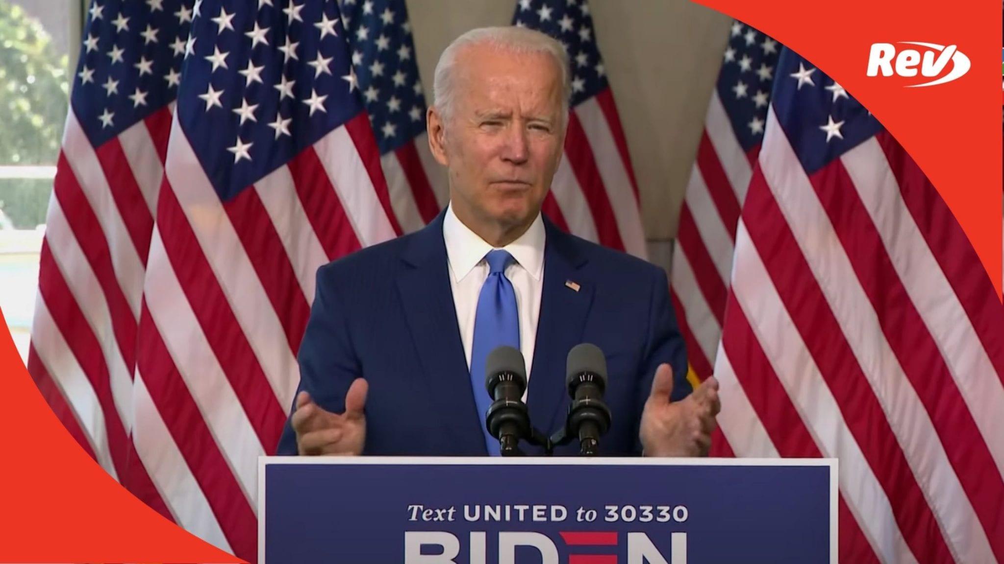 Joe Biden Speech Transcript Philadelphia Sept 20