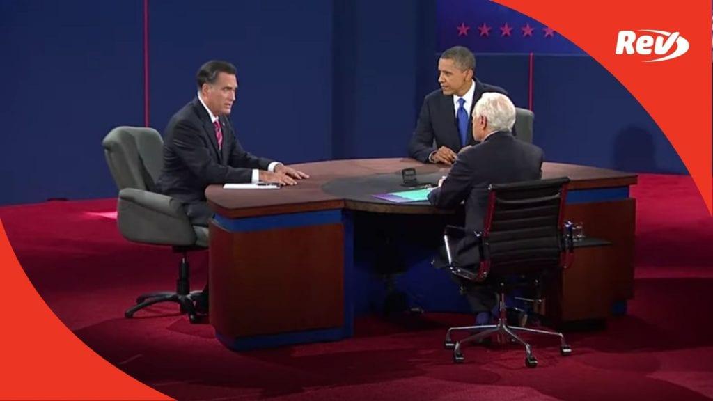 Mitt Romney Barack Obama Third Final Debate Transcript