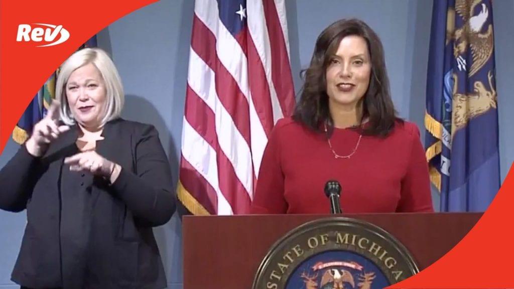 Michigan Governor Gretchen Whitmer Press Conference Transcript September 16