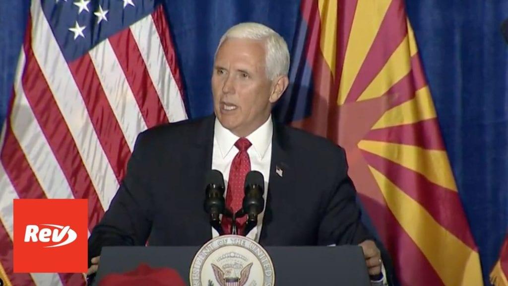 Mike Pence 'Veterans for Trump' Event Speech Transcript September 18