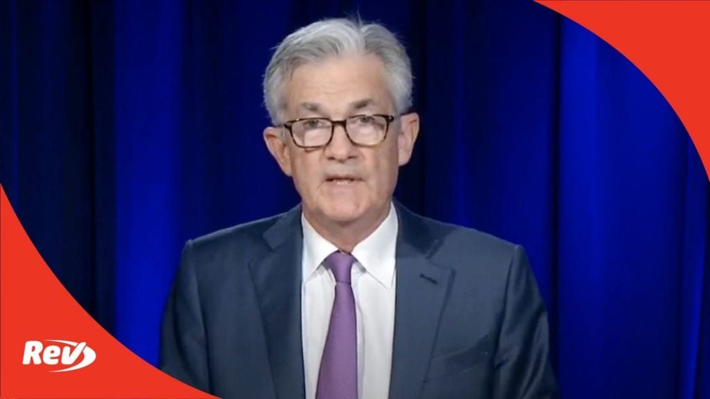Jerome Powell Fed Press Conference Speech Transcript September 16