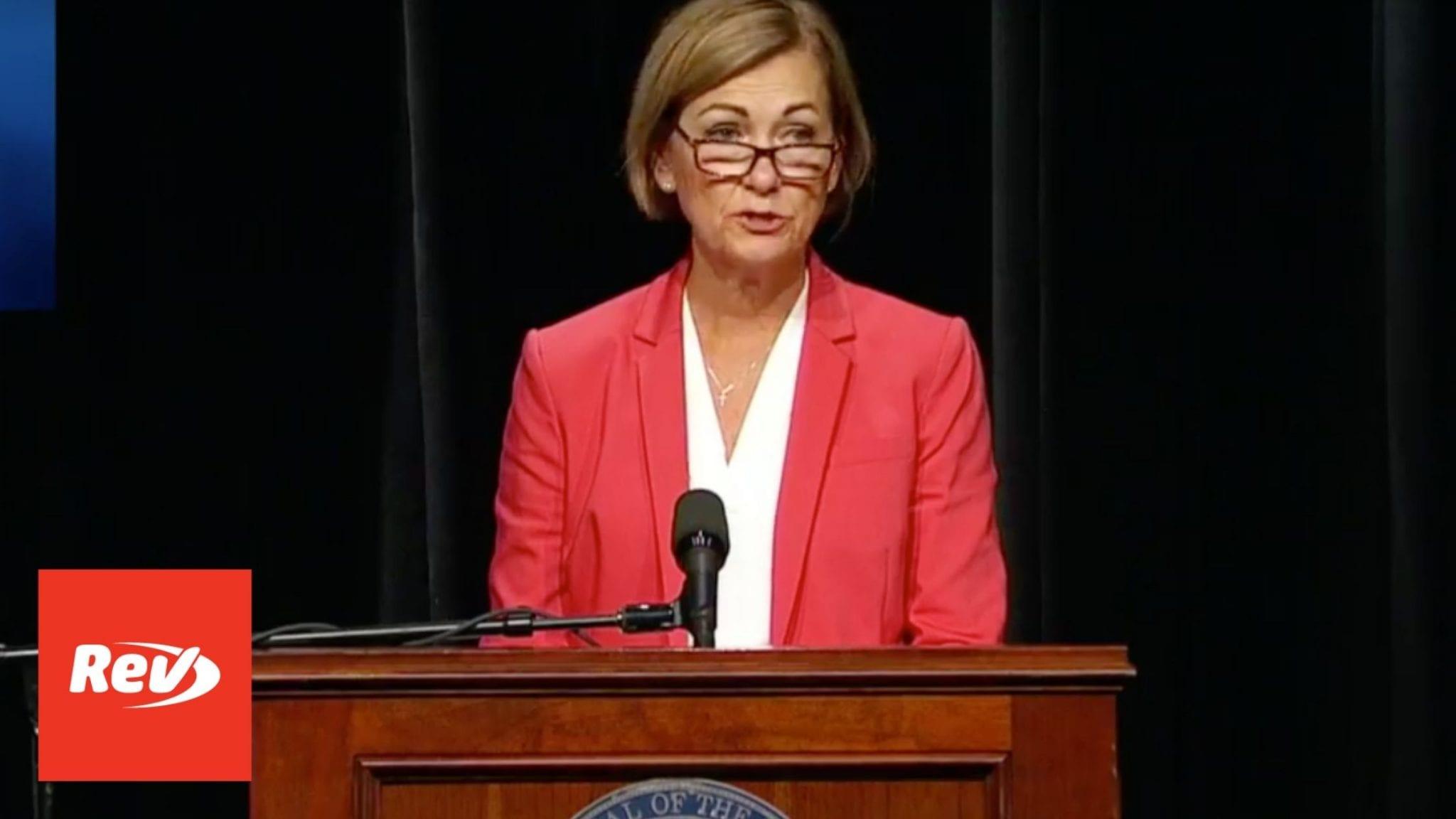 Iowa Gov. Kim Reynolds Press Conference Transcript September 2