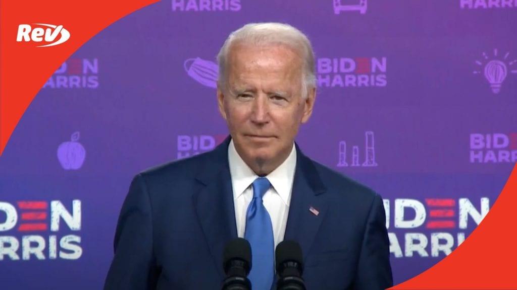 Joe Biden Reopening Schools Speech Transcript September 2