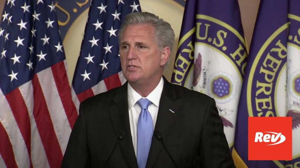 House Minority Leader Kevin McCarthy Press Conference Transcript September 17