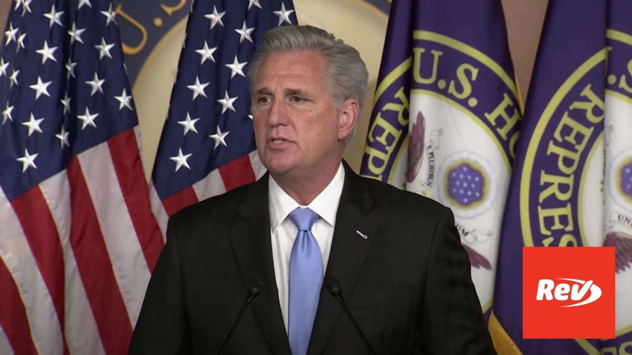 House Minority Leader Kevin McCarthy Press Conference Transcript September 17