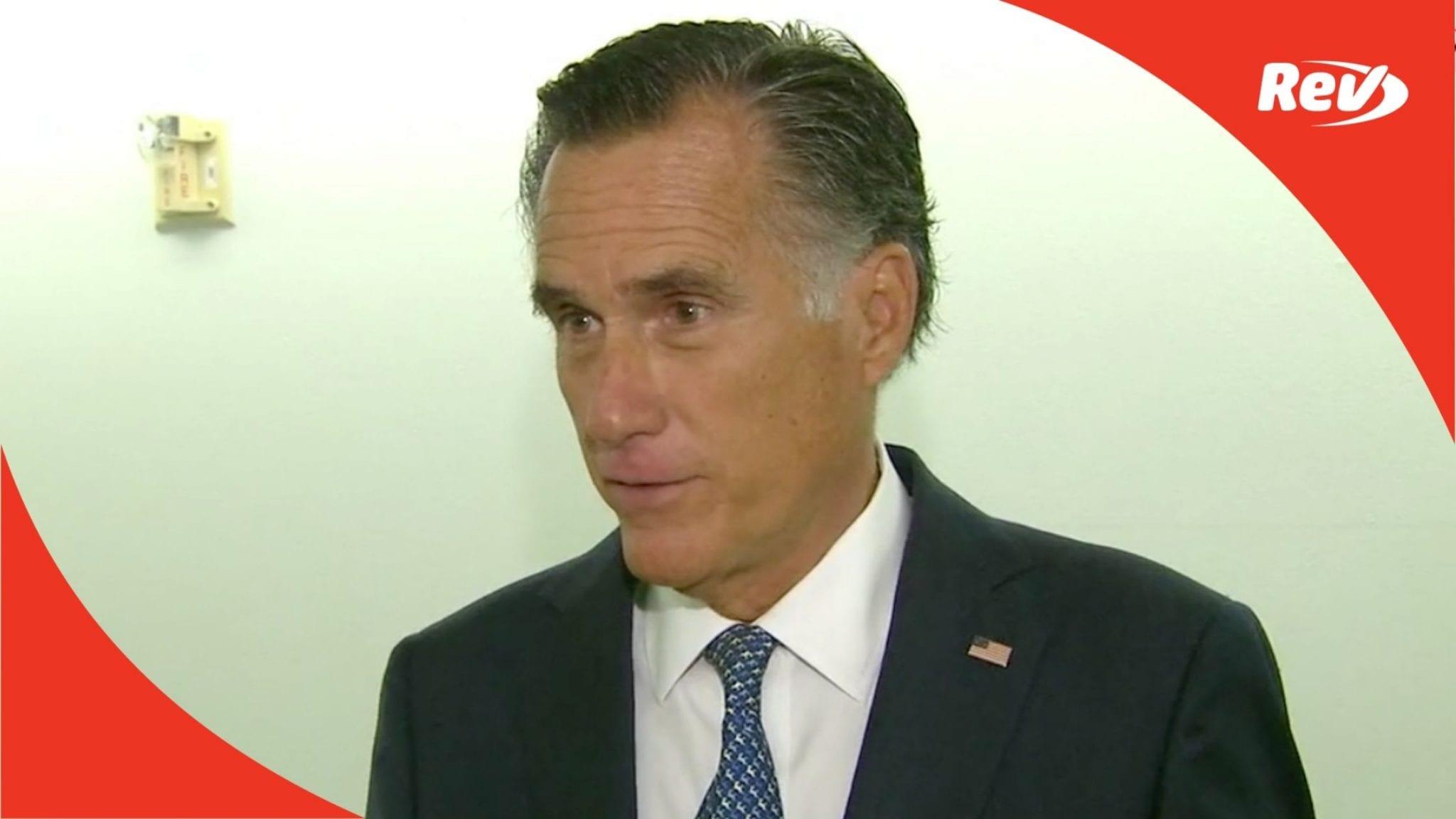 Mitt Romney Will Support Vote on SCOTUS Nominee Remarks Transcript September 22