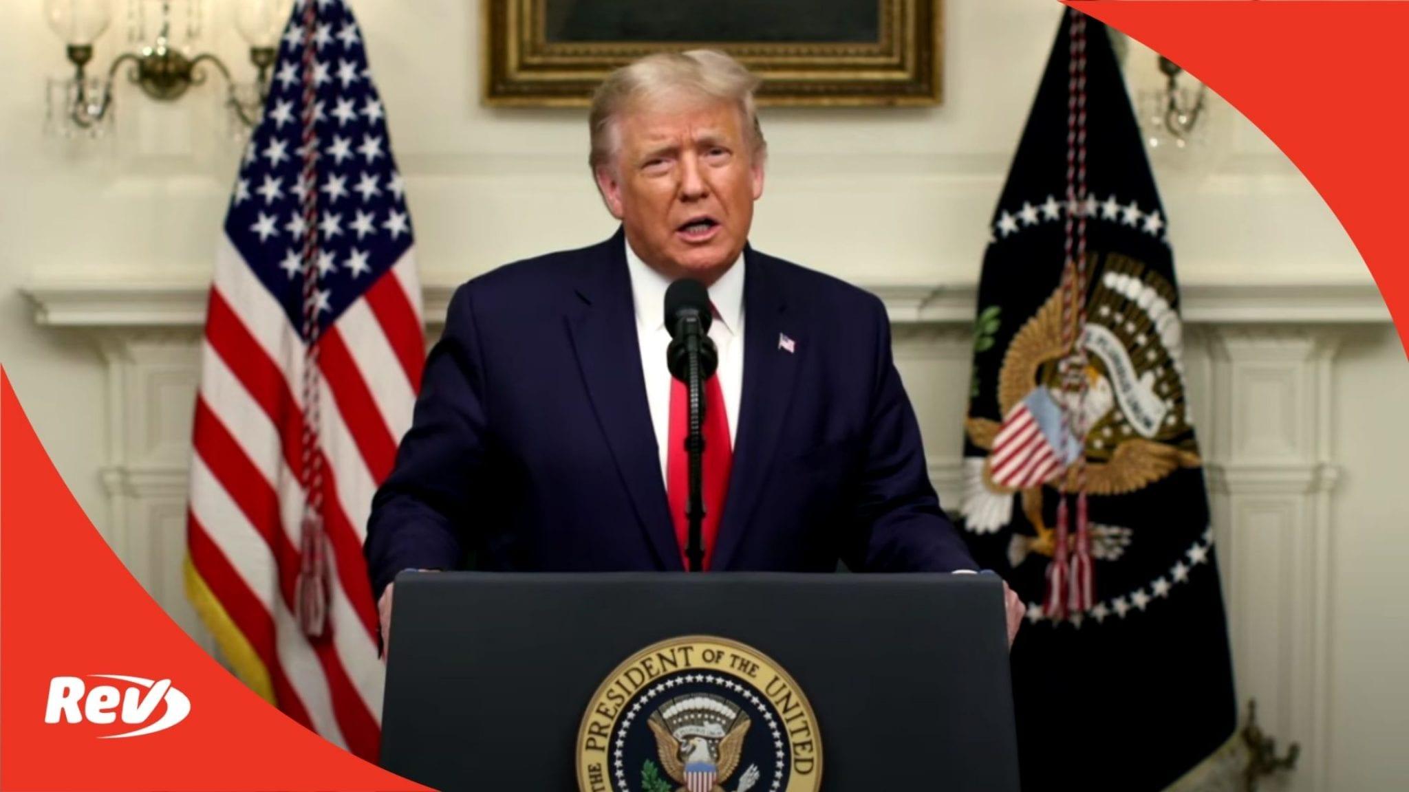Donald Trump Speech 2020 UN General Assembly Transcript - Rev