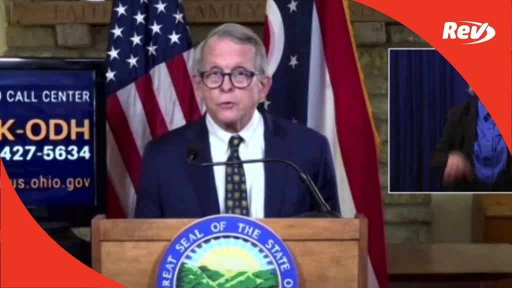 Ohio Governor Mike DeWine Press Conference Transcript September 22