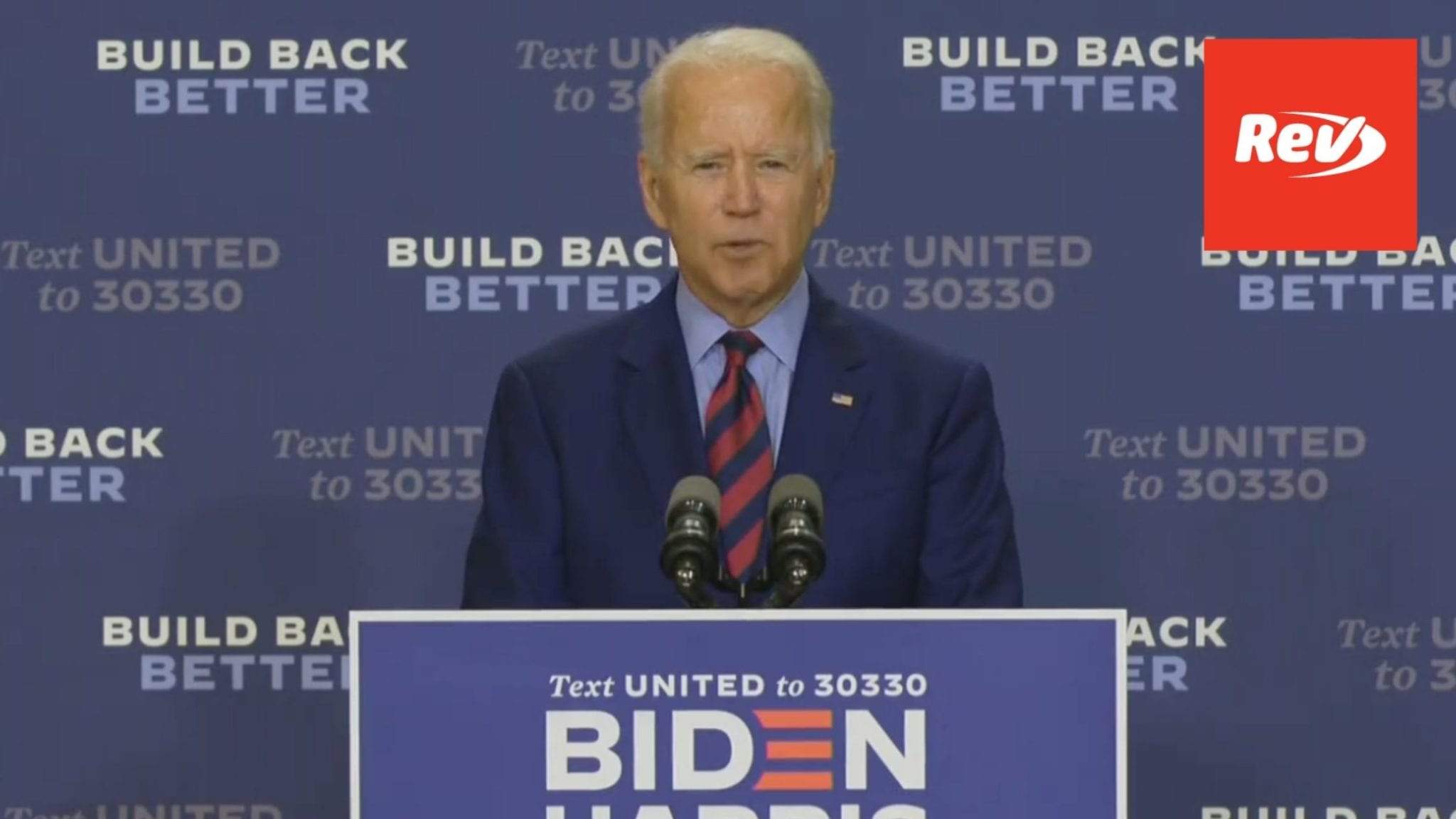 Joe Biden Press Conference Transcript September 4