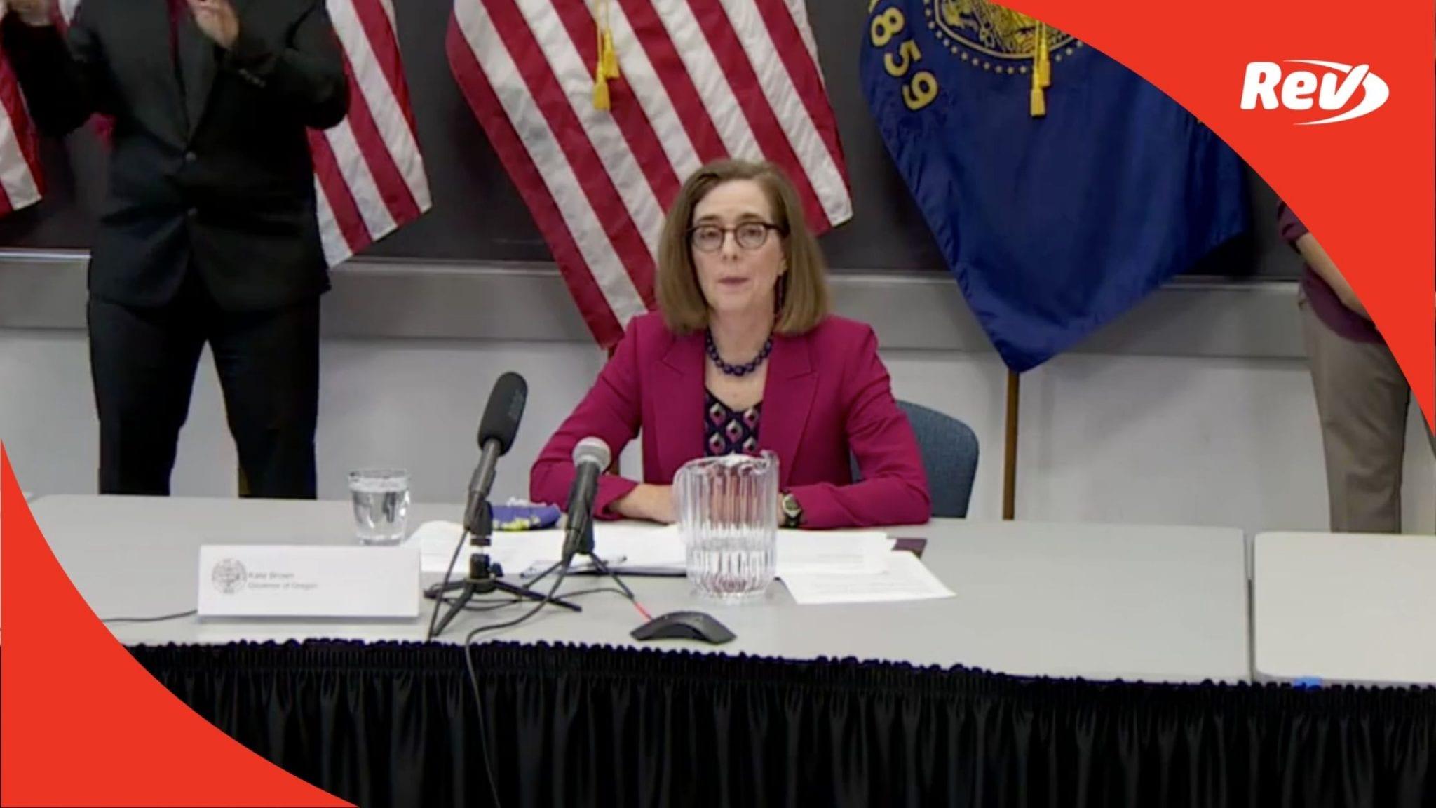 Oregon Governor Kate Brown Press Conference Transcript September 4: Portland Protests
