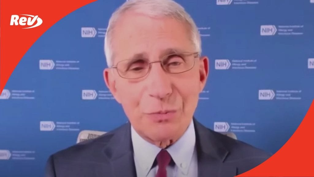 Dr. Anthony Fauci Interview Transcript September 8