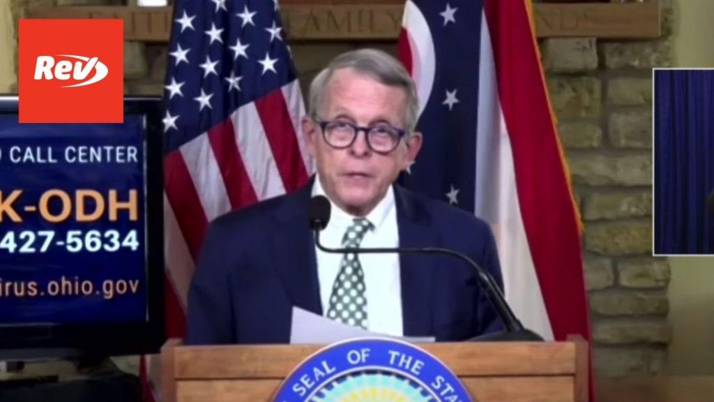 Ohio Governor Mike DeWine Press Conference Transcript September 8