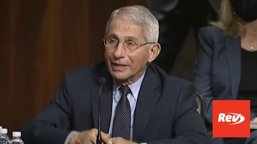 Fauci, Redfield COVID-19 Testimony Before Senate Transcript September 23