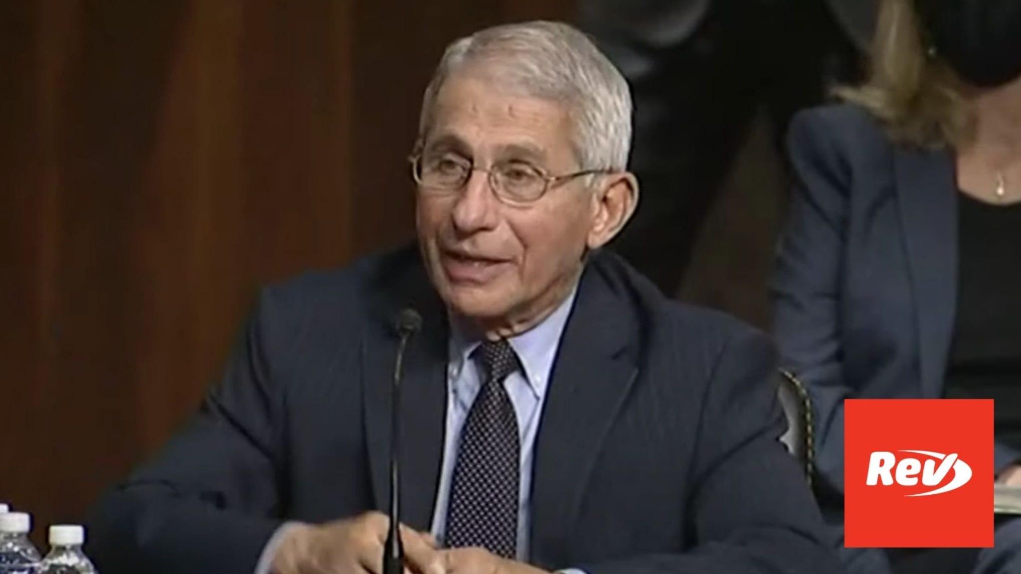 Fauci, Redfield COVID-19 Testimony Before Senate Transcript September 23