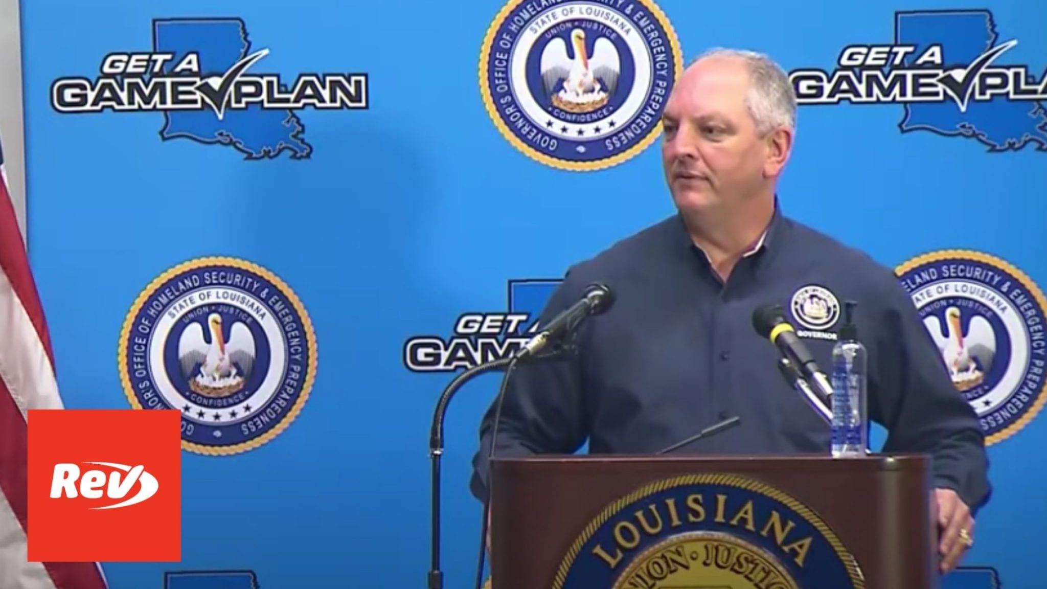 Louisiana Gov. John Bel Edwards Briefing Transcript September 8: Hurricane Laura & COVID-19 Response Update