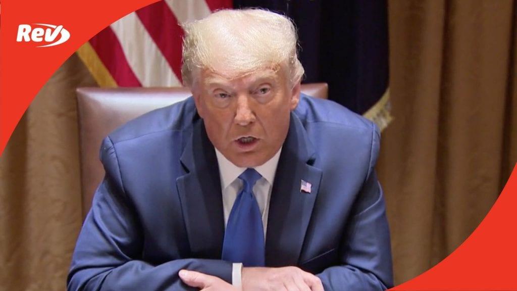 Donald Trump Talks Social Media Accountability Transcript September 23